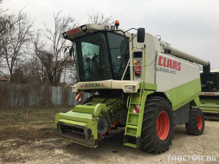 Комбайни Claas Комбайн CLAAS Lexion 470 + V750 0 - Трактор БГ